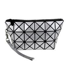 Japans Miyake Fashion Portable Wallet Life Large Capacity Travel Geometric Rhombic Variety Folding Hand Female