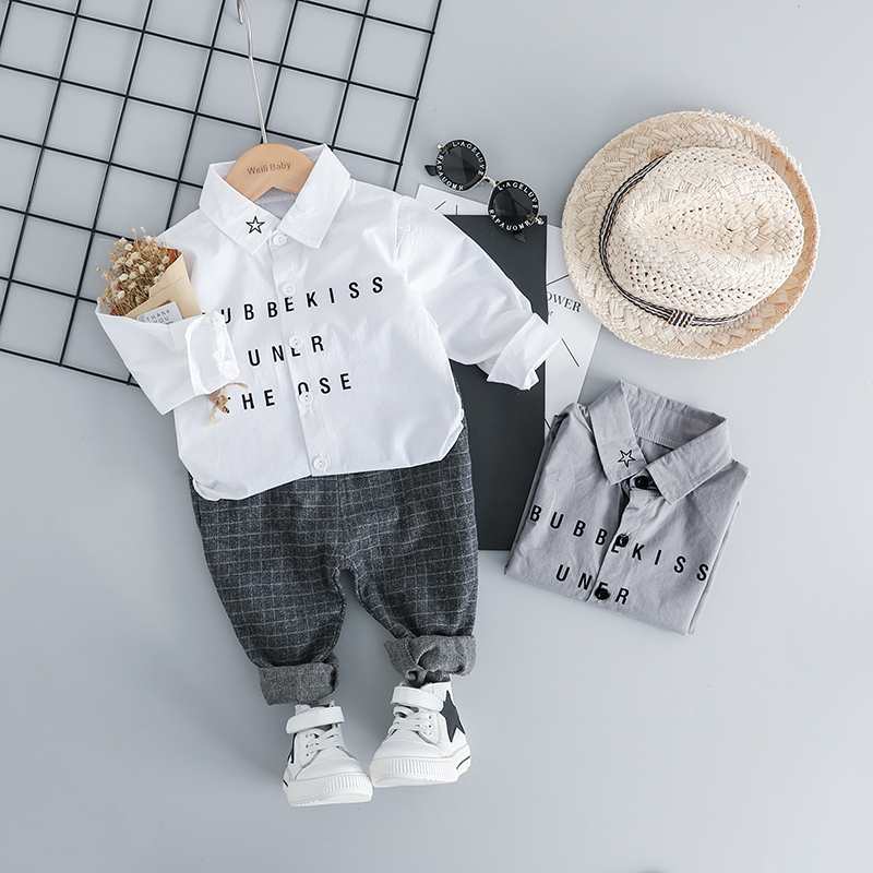 HYLKIDHUOSE Spring Toddler Infant Clothes Suits Casual Style Baby Boys Clothing Sets Star Shirt Pants Kids Children Costume