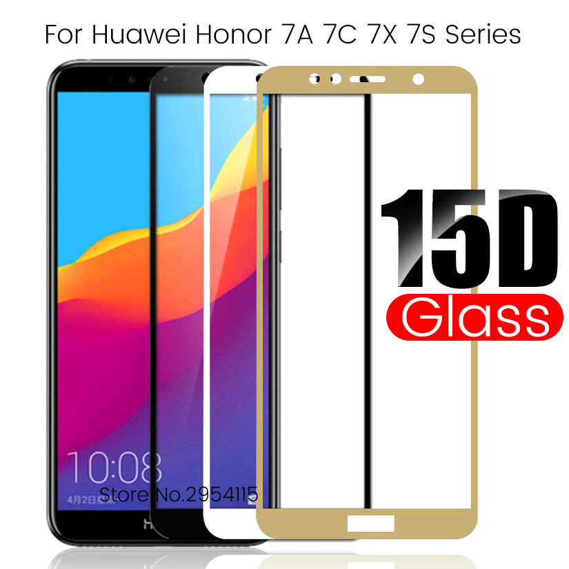 15d Protective Glass On Honor 7a Pro 7c Pro 7x Safe Glasses For Honor7a Honor7c Honor7x Honer 7 A C X A7 C7 X7 Screen Film Cover