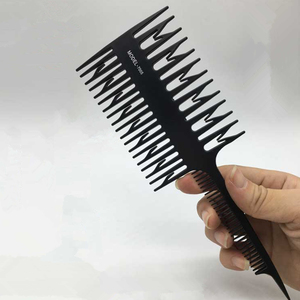 1pc Unisex Big Tooth Comb Hair Dyeing Tool Highlighting Comb Brush Salon Pro Fish Bone Design Comb Hair Dyeing Sectioning Hot(China)