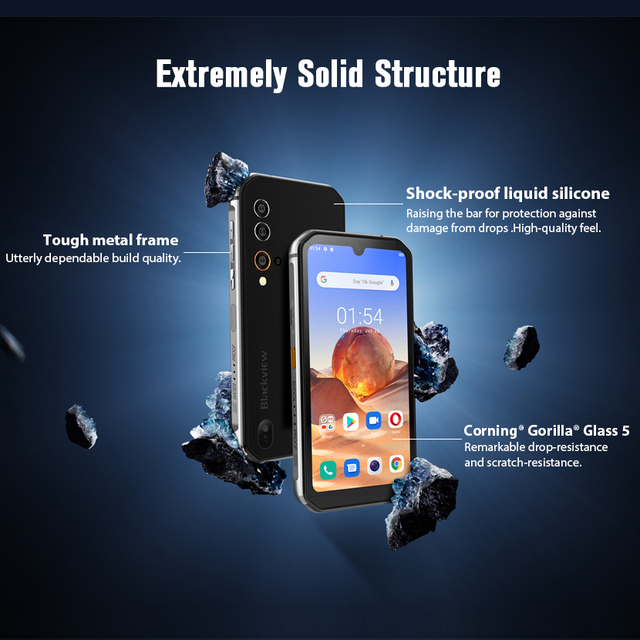 Blackview BV9900E Helio P90 Rugged Smartphone 6GB+128GB IP68 Waterproof 4380mAh 48MP Camera NFC Android 10 Mobile Phone 3