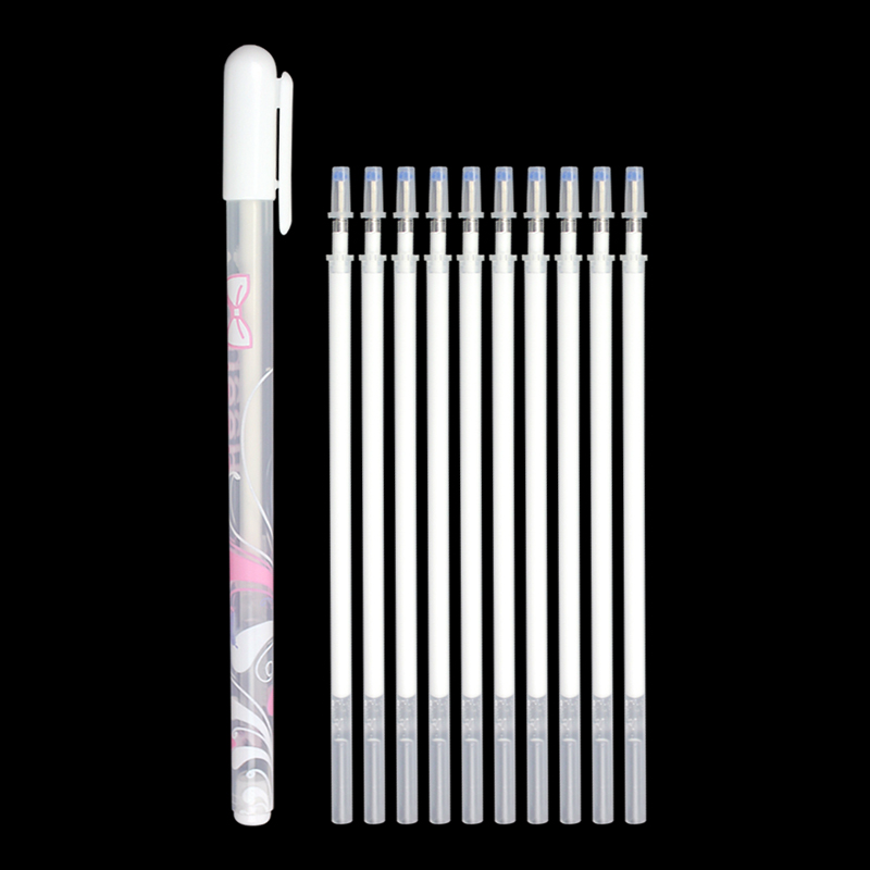 Kawaii Highlight Pen White Fine Gel Pen And Refills Painting Hand-painted Drawing High Light Pen For Kids Stationery Supplies