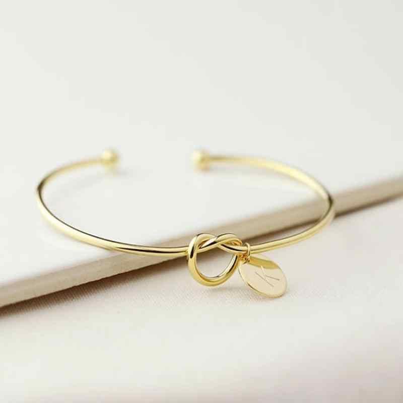 26 harfler alaşım gül altın kişilik moda bilezik bilezik kadınlar için hediyelik halka bileklik bilezik takı