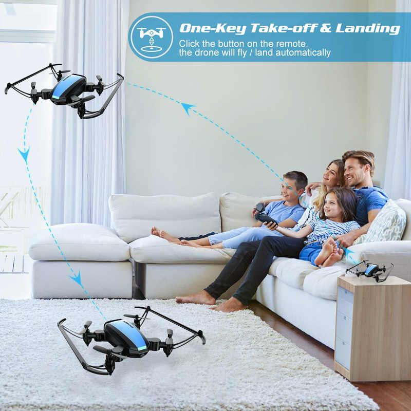 Global Drone GW125 мини-Дрон Квадрокоптер 2,4G 4CH RC вертолет Микро Карманный складной Дрон для детей игрушки для мальчиков