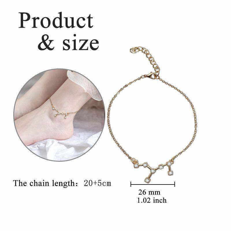BUTEELUVV 12 מזלות גלגל המזלות שרשרת לנשים זירקון כוכב תליון זהב כסף שרשרת שרשרת אופנה תכשיטים מותאמים אישית