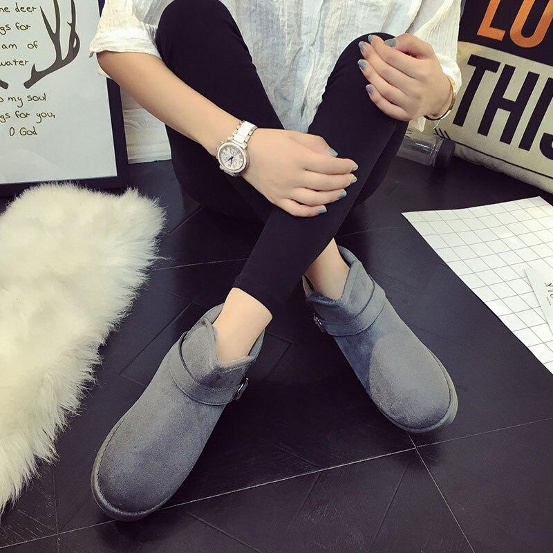 NKIAVQI Women Boots Waterproof Snow Winter Boots Female Plush Women Warm Ankle Botas Mujer 2019 Women Suede Ankle Boots Female