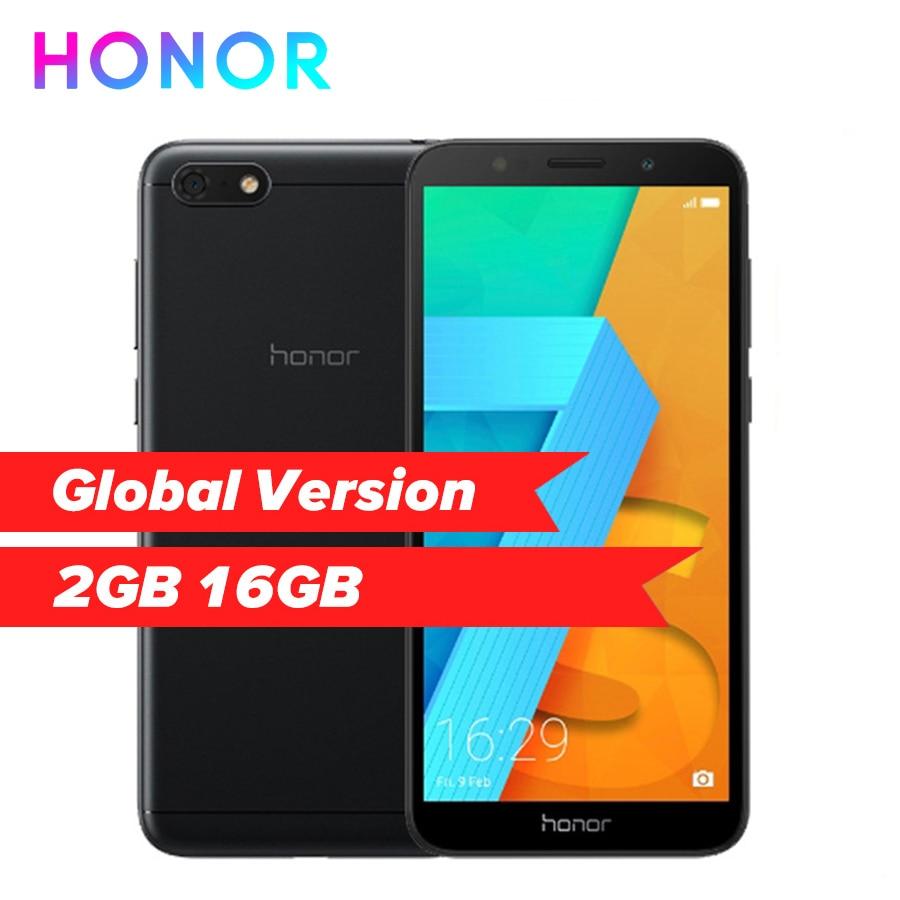 Global Version HUAWEI HONOR 7S DUA-L22 5.45'' Quad Core Android 8.1 Smartphone 13MP 5MP Dual Camera 3020mAh Mobile phone