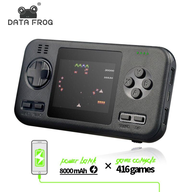 Портативная Ретро игровая консоль DATA FROG с аккумулятором 8000 мАч, 416 классических игр, мини портативная игровая консоль