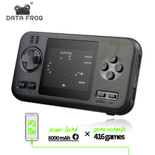 Console de jogo retro portátil handheld da rã dos dados com 8000mah power bank bull-em 416 jogos clássicos mini console handheld do jogador