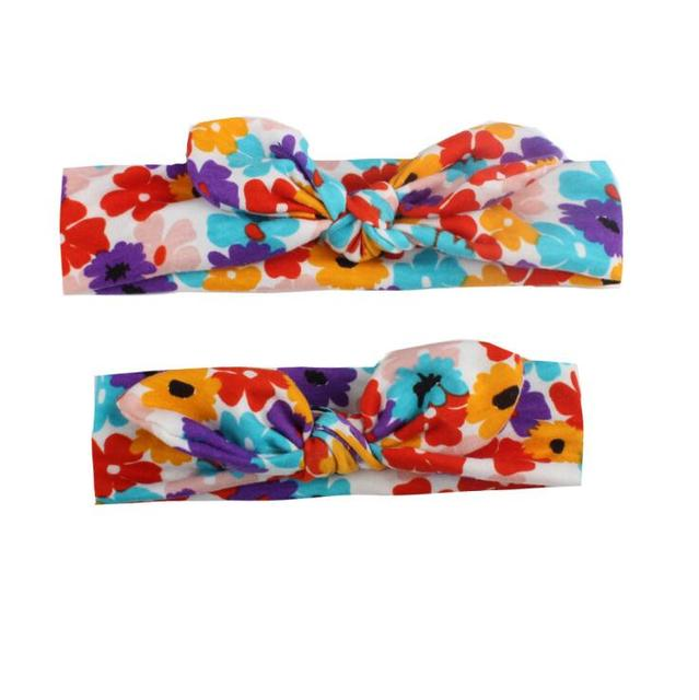2PCS Mama & Baby Bowknot HeadBands 4