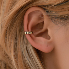 Hello Miss Fashion new earrings ethnic style simple ear clip creative retro men and women bone tide jewelry