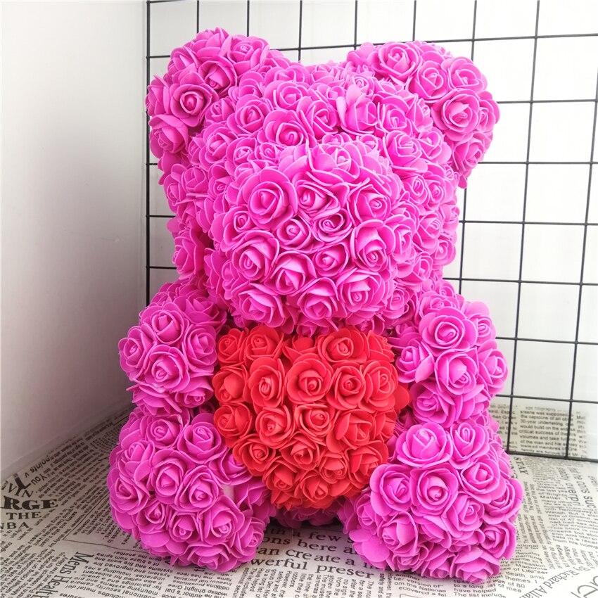 Bubble Rose Bears Foam Handmade Bear Mold DIY Artificial Flower Plastic Roses