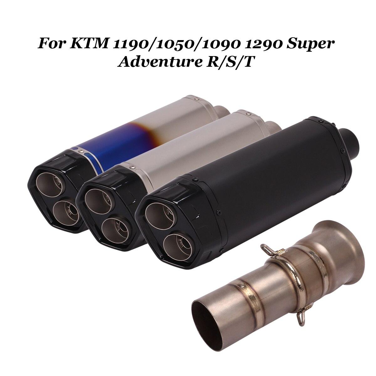 Sistema de Escape antideslizante, silenciador de 51mm, tubo de conexión para KTM 1050, 1090, 1190, 1290