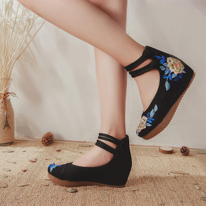 Image 5 - Veowalk中国midトップ女性のキャンバスフラットプラットフォーム靴女性歳北京花綿刺繍快適なzapatos mujer