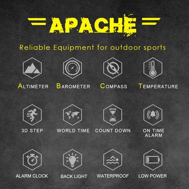 North Edge Men Sports Watches Waterproof 50M LED Digital Watch Men Military Compass Altitude Barometer 5