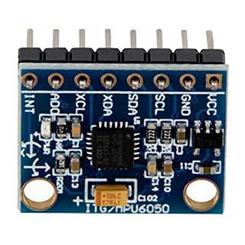 GY-521 MPU-6050 3 Axis Accelerometer Sensor Module 16 Bit AD Converter Data Output IIC I2C for Arduino