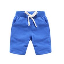 Five minutes of pants boy children summer leisure sports beach shorts drawstring pants candy color clothes 1.5-10 years old(China)