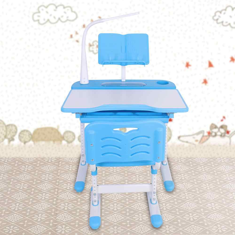 Desk And Chair Set Adjustable Height Protection Vision Correcting Sitting Posture Children Learning Writing Desk with Lamp