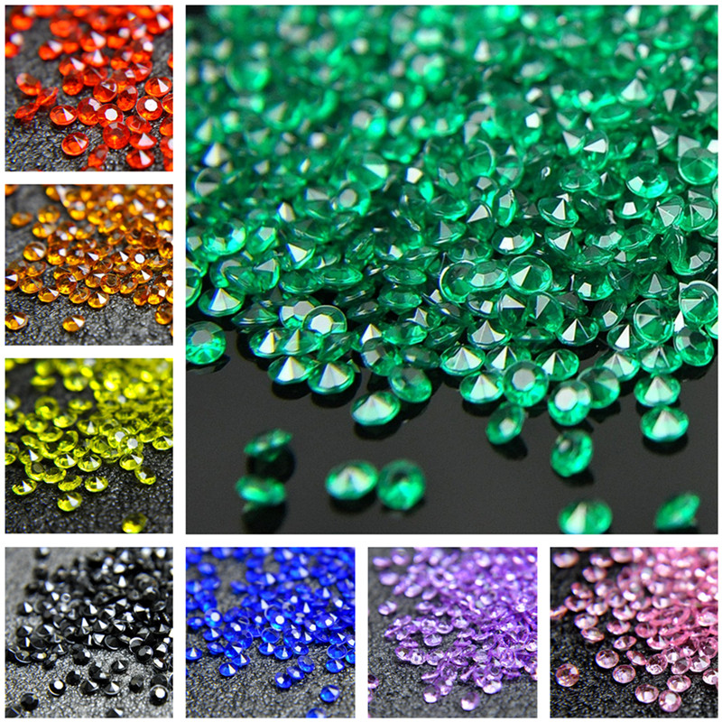 10000 WEDDING TABLE SCATTER CRYSTALS DIAMOND COFFETTI ACRYLIC DECORATIONS 4.5mm