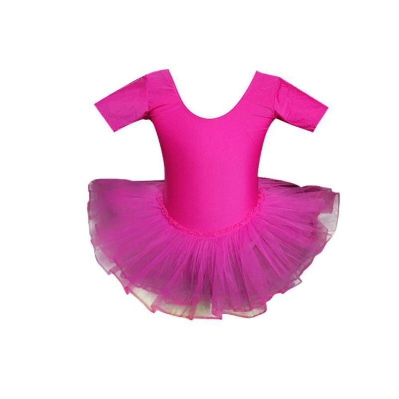 Girl Children Girls Dance Ballet Dress Short Sleeve Mesh Tutu Practice Show Clothes Small Swan Dancewear Ballet Dress New