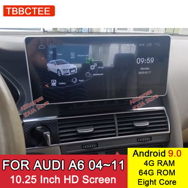 <font><b>Android</b></font> 9.0 4+64G For <font><b>Audi</b></font> <font><b>A6</b></font> 4F 2004~2011 MMI 2G MMI 3G Car <font><b>Radio</b></font> Stereo GPS Navigation Car Multimedia Player image