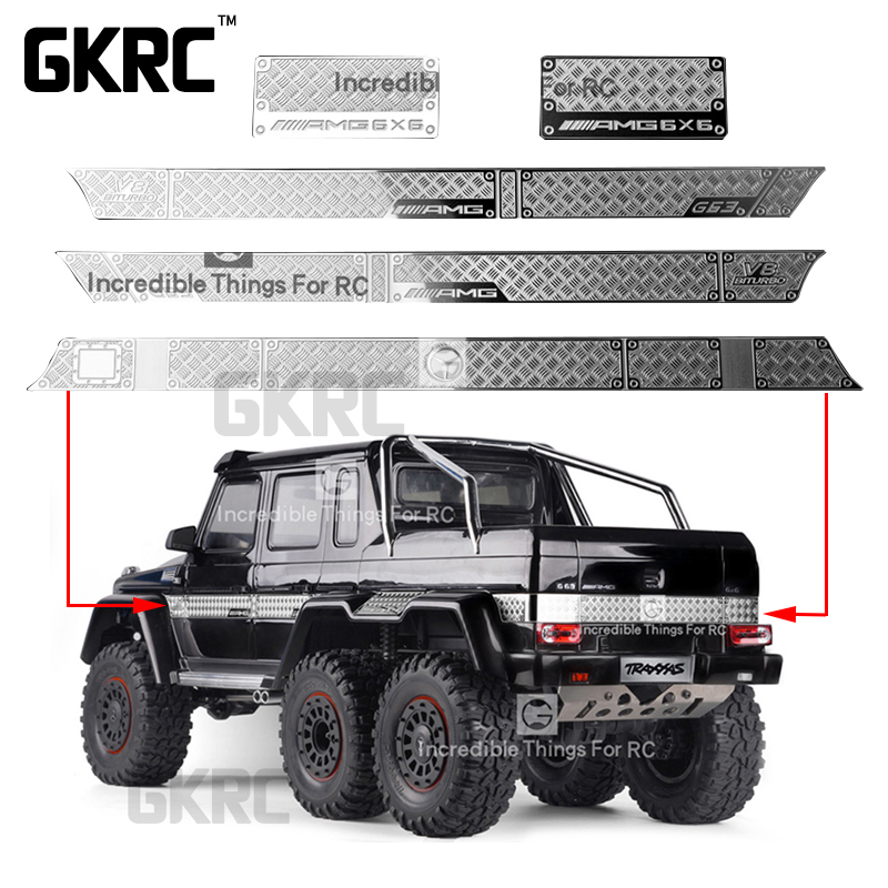 Gkrc Stainless Steel Decorative Sheet Anti-skid Plate For 1/10 Traxxas Trx-6 G63 Trx-4 G500 <font><b>Rc</b></font> <font><b>Car</b></font> <font><b>Body</b></font> Parts <font><b>Body</b></font> Surrounded image