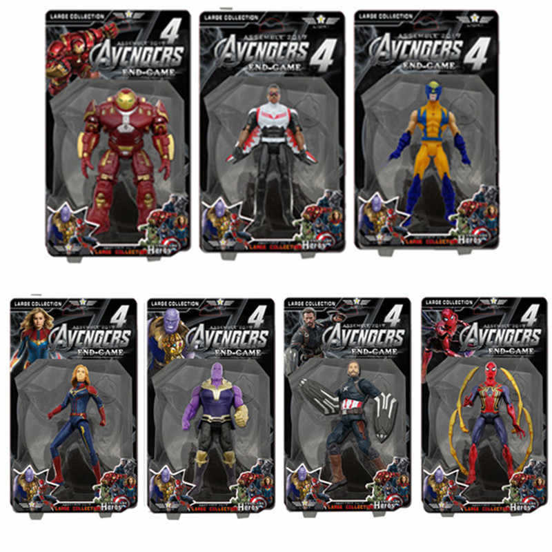 Action Figure Marvel Avengers Endgame Captain America/Iron Man/Spiderman/Thor Superhero Movie Anime Giocattoli di Modello di Aggiornamento