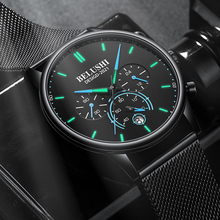 BELUSHI 2021 New Fashion Mens Watches Top Luxury Brand Sport Quartz Luminous Waterproof Chronograph Wristwatch Mens Watches