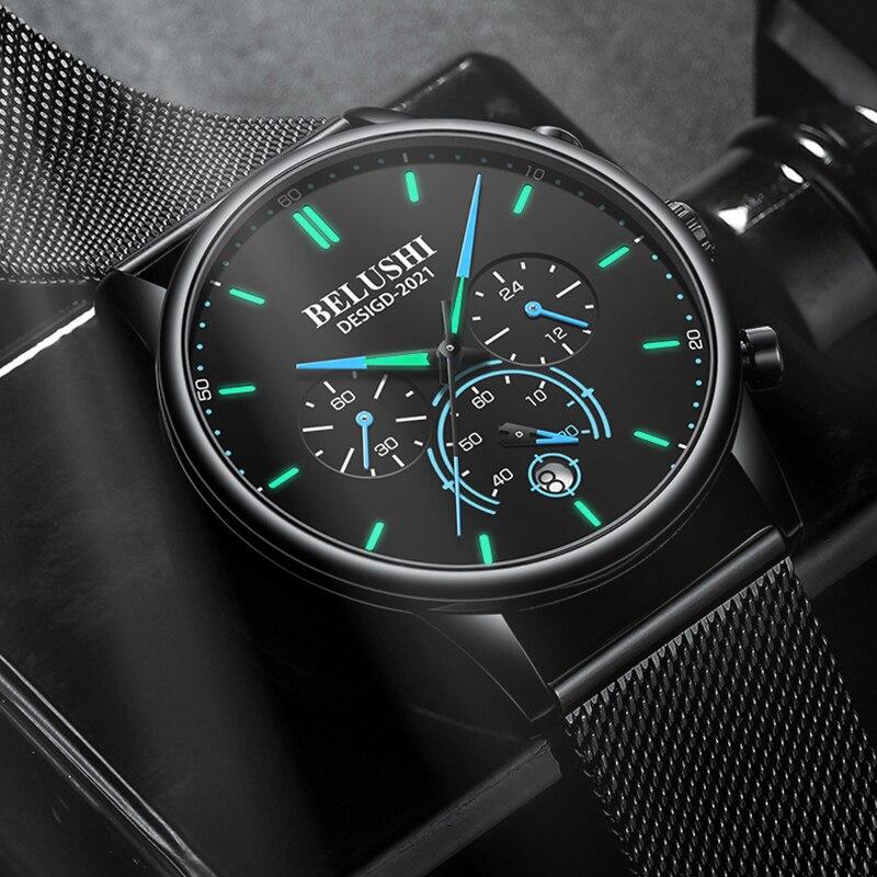 Купить часы наручные belushi мужские кварцевые модные роскошные брендовые