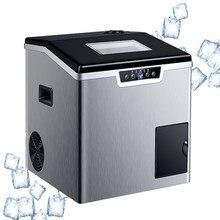 Máquina de hielo eléctrica portátil para el hogar, fabricante de cubitos de hielo automático comercial, 40KG/24H, con función de hielo de arena, 220V