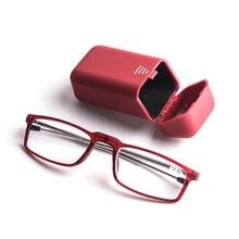 Складные очки с Чехол Портативный для чтения Для мужчин от вредного