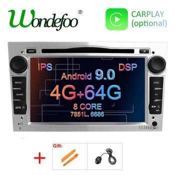IPS DSP Android 9.0 4G 2 DIN odtwarzacz DVD dla opla Vauxhall Astra H G Vectra Antara Zafira Corsa Vivaro Meriva Veda RADIO GPS PC
