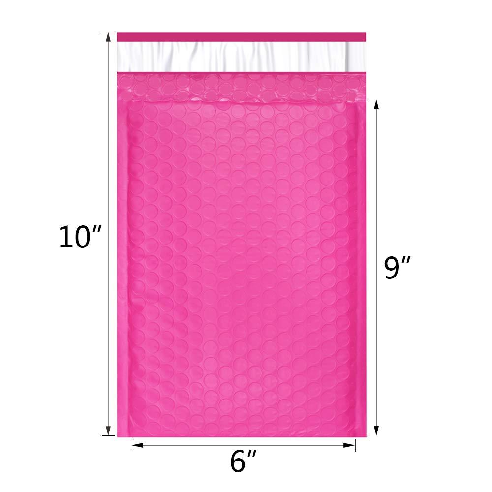 10pcs / 175 * 228mm / 6x9inch Nutzbarer Raum Pink Poly Bubble - Papier - Foto 2