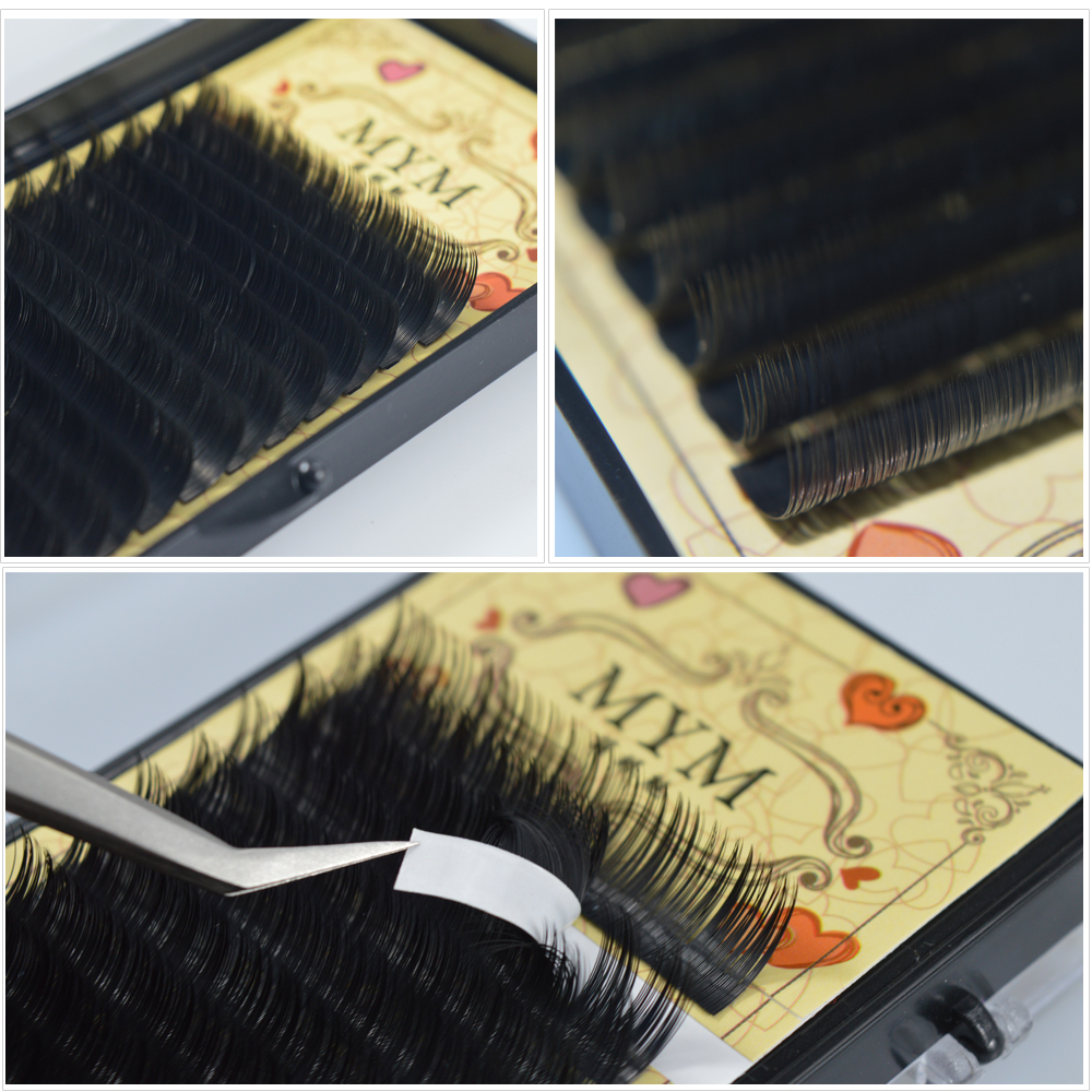 All Size 1 Case J B C D Curl Mink Eyelash Extension Individual Fake False Eye Lash Tray Professional Salon Lasher Use