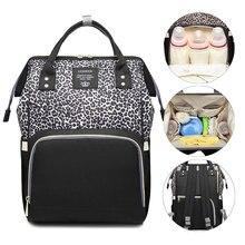 Lequeen bezi çanta leopar bebek çanta hemşirelik bezi çantası seyahat annelik Patchwork çanta açık arabası organizatör sırt çantası
