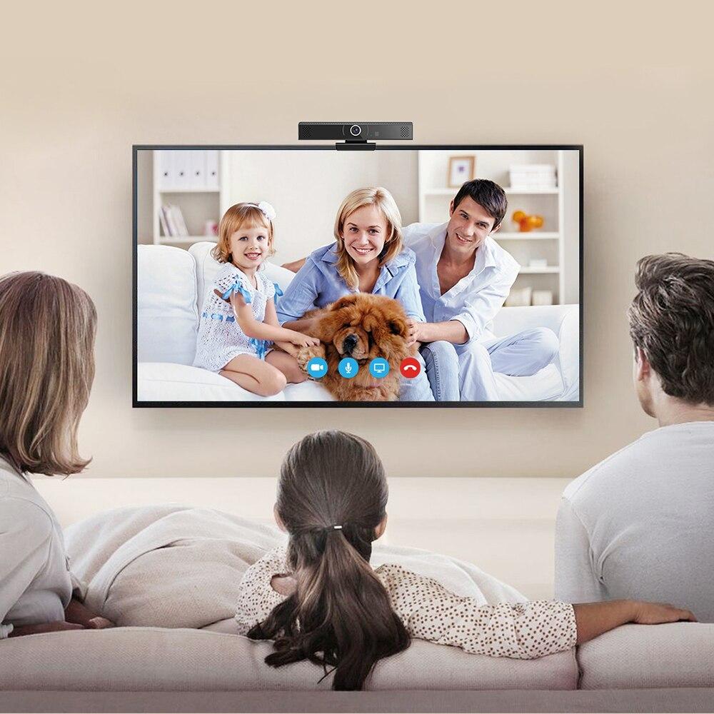 Câmera de rede vídeo player caixa de bate-papo de vídeo android definir caixa superior zoom skype vídeo conferência tudo em uma máquina-2