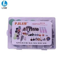 PJLSW 160PCS Dremel Mini Drill Rotary Tool Accessories Bit Set for Grinding Polishing Cutting Abrasive Tools Kits