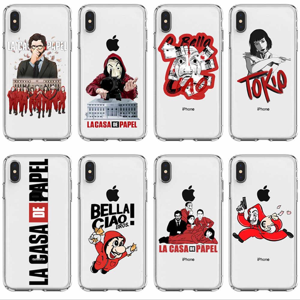 Spanish Tv La Casa De Papel Bella Ciao Soft Silicone Cover Phone Case For Iphone 6 7 8plus 11 Pro Max Se 5s 6 6s 7 8 Max Xr Xs X Phone Pouches Aliexpress