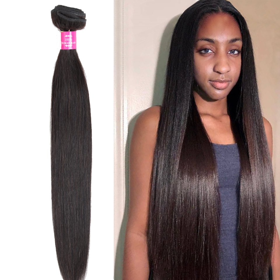 Fashow Human Hair 8-40 Inch Straight Hair 1/3/4 Bundles Peruvian Hair Natural Hair Weave Good Remy Hair Extensions Factory Store