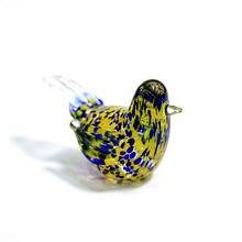 Цветные маленькие стеклянные фигурки птиц искусство ручной работы