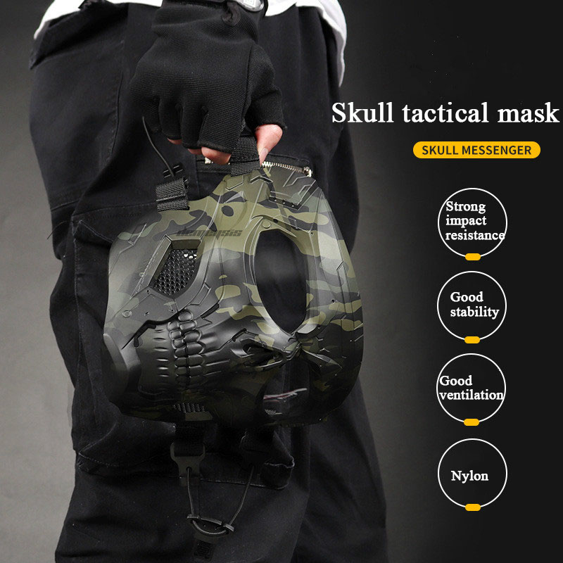 Outdoor Breathable Hunting Shooting Skull Mask 3