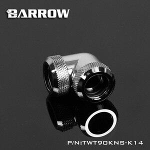 Барроу TWT90KNS-K14, 90 градусов Жесткие Трубы Фитинги, G1 / 4 адаптер для 14 мм жесткие трубы ethernet настенная пластина гаджет ножной винт