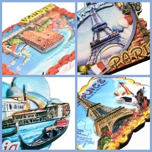 Image 4 - Souvenir Fridge Magnets Country Paris Resin Refrigerator Sticker Travel Turkey Italy Souvenir Magnets for Fridges Greece Tourist