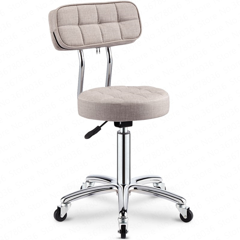 Bar Chair Bar Beauty Chair Backrest High Stool Rotating Lift Chair High Bar Stool Round Chair