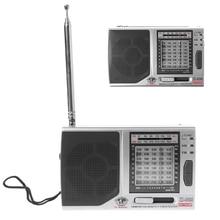 KK 9803 FM/MW/SW1 8 полный 10 диапазонный Высокочувствительный радиоприемник со складной подставкой
