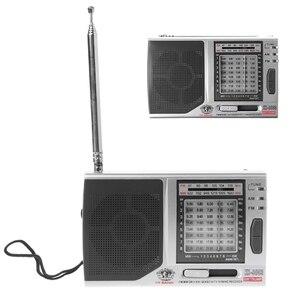 Image 1 - KK 9803 FM/MW/SW1 8 מלא 10 להקת היי רגישות רדיו מקלט עם מתקפל Kickstand