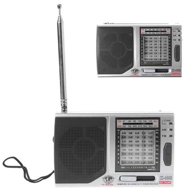 KK 9803 FM/MW/SW1 8 Full 10 Band Hi Sensitivity Radio Receiver With Folding Kickstand