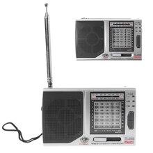 KK 9803 FM/MW/SW1 8 Pieno 10 Fascia Hi Sensibilità della Radio Ricevitore Con Cavalletto Pieghevole