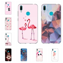 For Huawei Y5 2019 Y6 2018 Y7 Case TPU Mate 20 lite Cover Flowers Pattern II Honor 5 7A Pro Shell