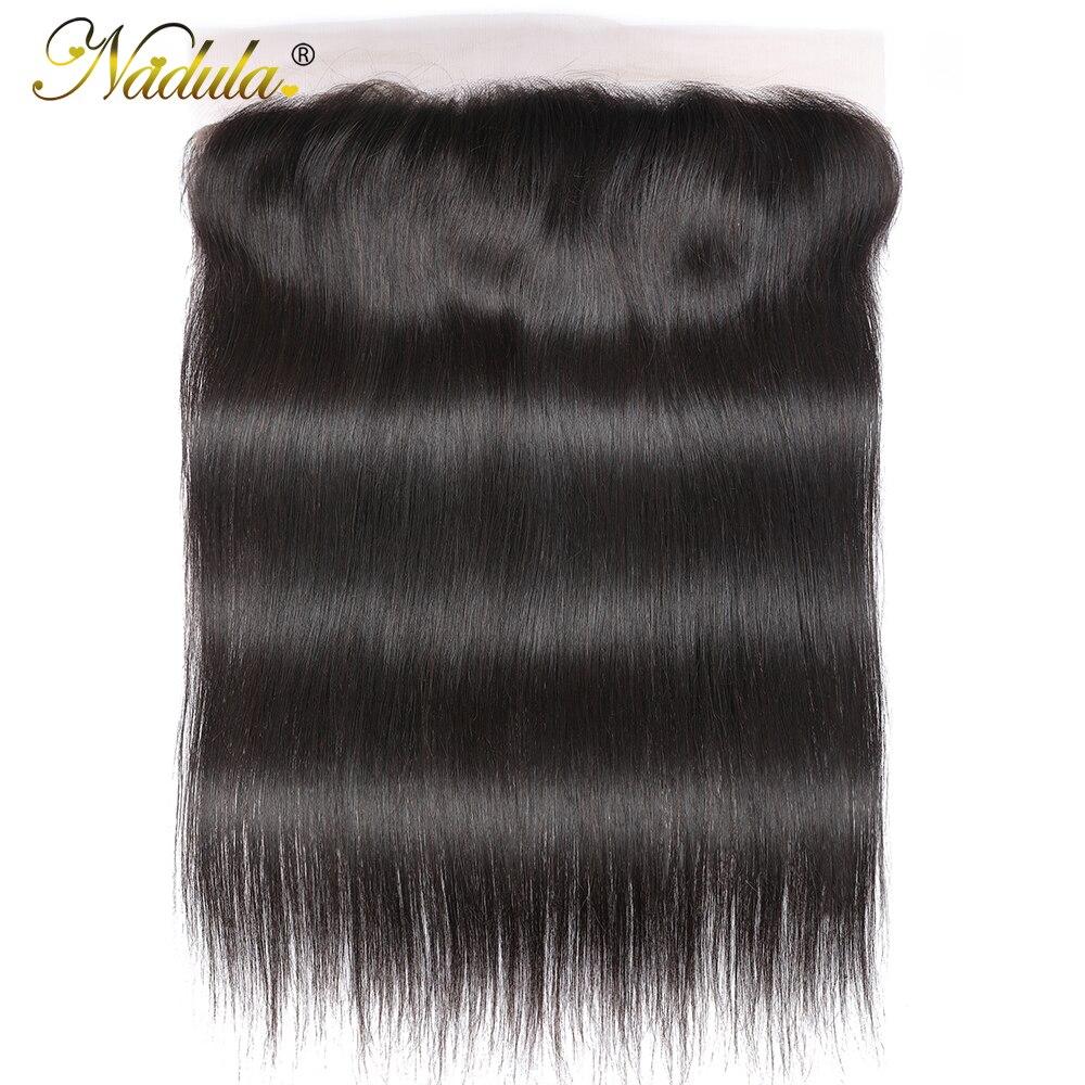 Nadula Straight  13x4 Lace Frontal Closure  Straight Hair Frontal 4x4 Silk Base Closure 2